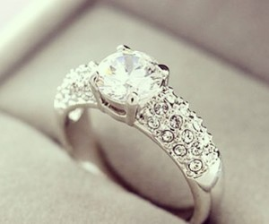 diamond, ring, and white gold image
