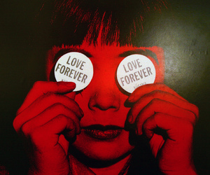 red, love, and forever image