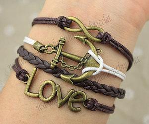charm bracelet, friendship bracelet, and infinity love image