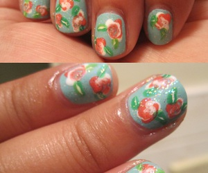 flower, nails, and vintage image