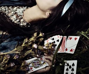 cards, selena gomez, and alice in wonderland image