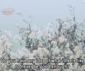 quote, sad, and flowers image