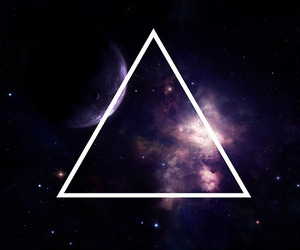 triangle, hipster, and galaxy image