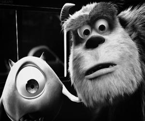 black and white and monstros sa image