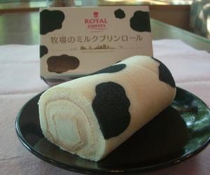cow, kawaii, and pattern image