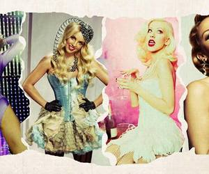 britney spears, christina aguilera, and madonna image