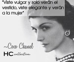 coco chanel, women, and frases image