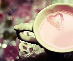heart, pink, and cup image