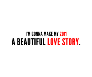beautiful, 2011, and typography image