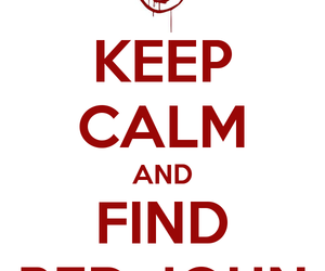 keep calm, red john, and 'the mentalist' image