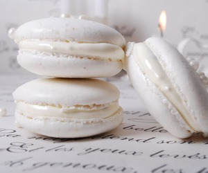 white, sweet, and food image