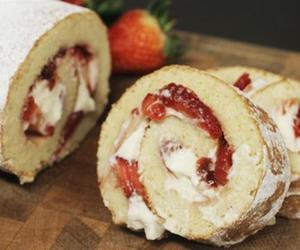 cake, sweets, and roll image