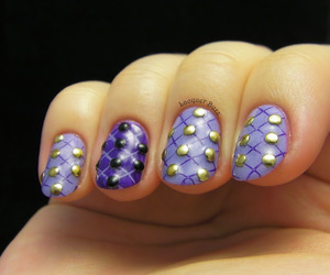 nail art, studs, and square studs image