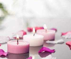 beautiful, candles, and white image