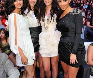 selena gomez, kendall jenner, and kim kardashian image