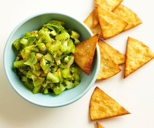 chips, food styling, and fruit image