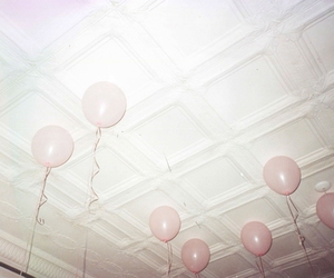 balloons, pink, and ceiling image