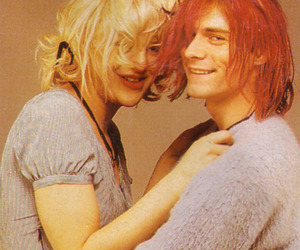 Courtney Love and kurt cobain image