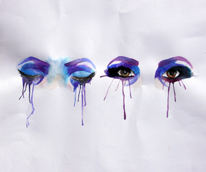 artistic, purple, and eyes image