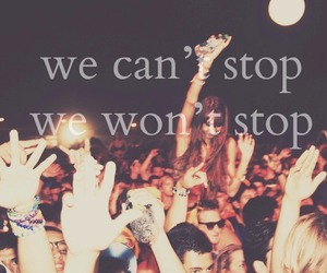 party, miley cyrus, and we can't stop image