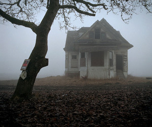 house, old, and scary image