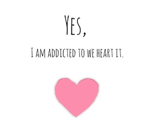addicted, heart, and illustration image