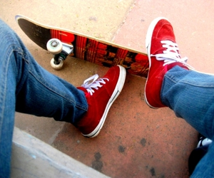 red, shoes, and skate image