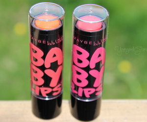 baby lips, Maybelline, and pink image