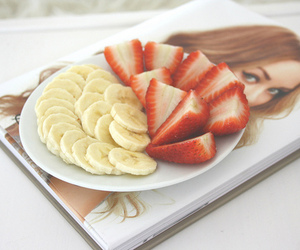 banana, strawberry, and awesome image