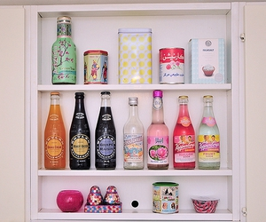 drink, bottle, and pink image