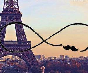 paris, mustache, and infinity image