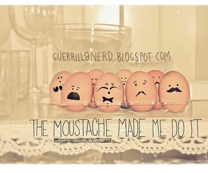 eggs and moustache image