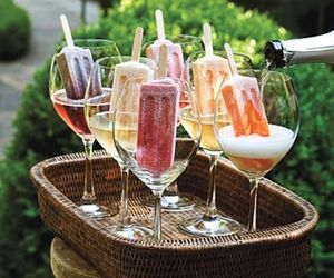 drink, champagne, and ice cream image