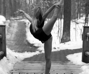 dance, ballet, and snow image