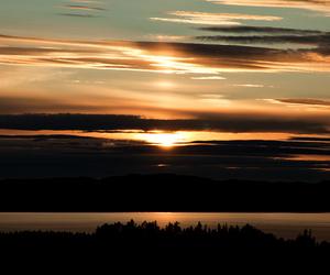 clouds, dalarna, and evening image