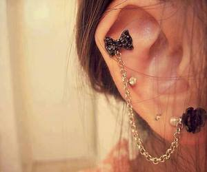 earring, cute, and fashion image