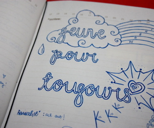 cloud, doodle, and Forever Young image