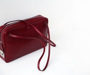 bag, beautiful, and burgundy image