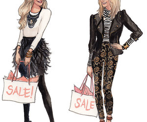 fashion, sale, and draw image