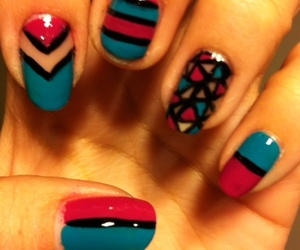 nails, aztec, and stripes image