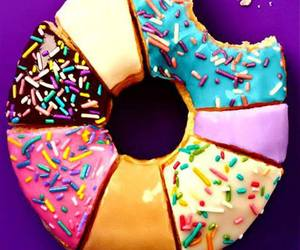 colors, donut, and food image