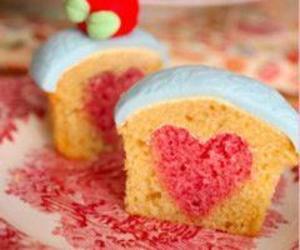 heart, cupcake, and sweet image