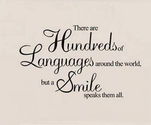 smile, quote, and language image
