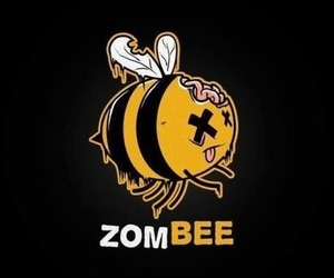 zombie, zombee, and bee image