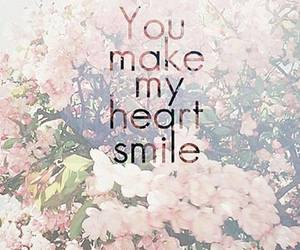 romantic, heart, and smile image