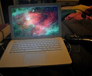 galaxy, laptop, and computer image