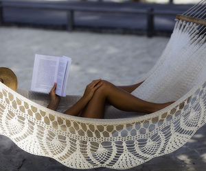 book, summer, and beach image