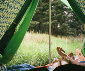 tent, couple, and green image