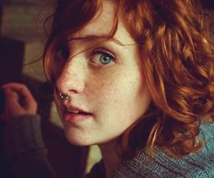 girl, redhead, and piercing image