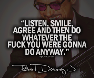 quote, robert downey jr, and smile image